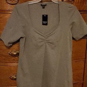 Gray v-neck Torrid fitted T-shirt